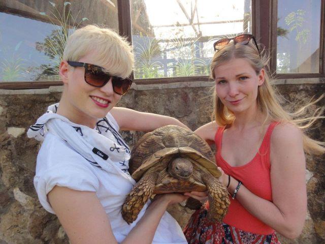Zdjęcia: Nairobi, z Elą i żółwiem lamparcim, KENIA