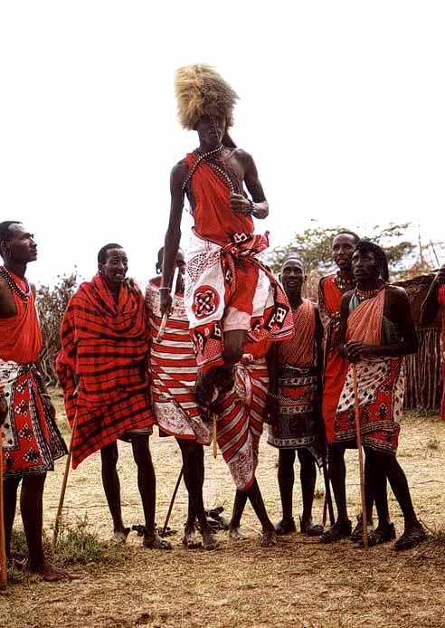Zdj�cia: Wioska Masaj�w, Masai Mara, Kenia, KENIA