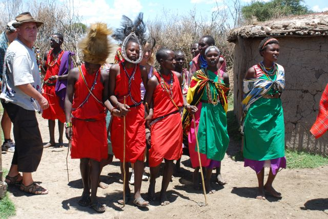 Zdj�cia: SAFARI, Masai Mara, Wioska Masaj�w, KENIA