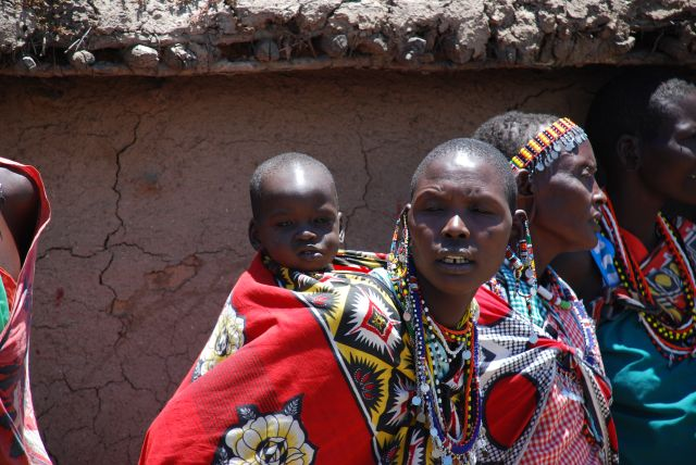Zdjęcia: SAFARI, Masai Mara, Wioska Masajów.................., KENIA