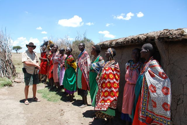 Zdjęcia: SAFARI, Masai Mara, Przywitanie w wiosce Masajów, KENIA