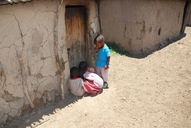 Zdjęcia: SAFARI wioska Masajów, Masai Mara, Dzieciaczki, KENIA