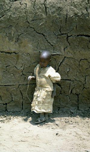 Zdj�cia: P.N. Amboseli, przysz�y Masaj, KENIA