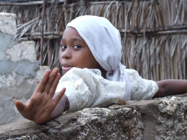 Zdj�cia: Lamu, p�nocna Kenia, odejd�, KENIA