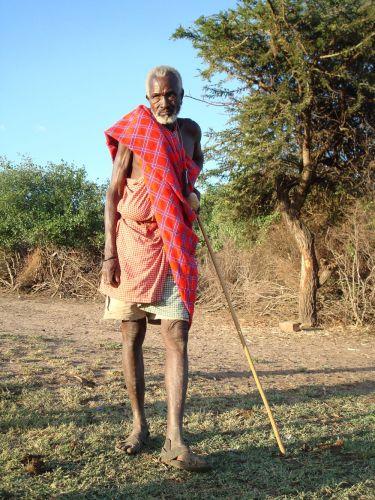 Zdjęcia: Masai Village, Wódz wioski, KENIA