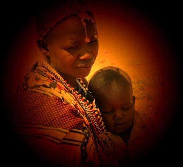 Zdjęcia: wioska masajska, Masai Mara, Masajska miłość, KENIA