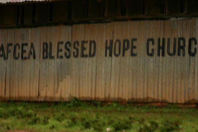 Zdjęcia: pomiędzy Kisumu i Masai Mara, Kisumu, Kościół, KENIA