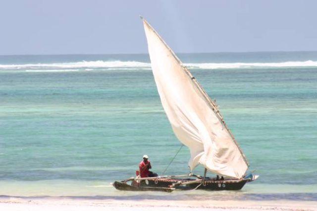 Zdjęcia: Diani Beach, wybrzeże, Rybak, KENIA