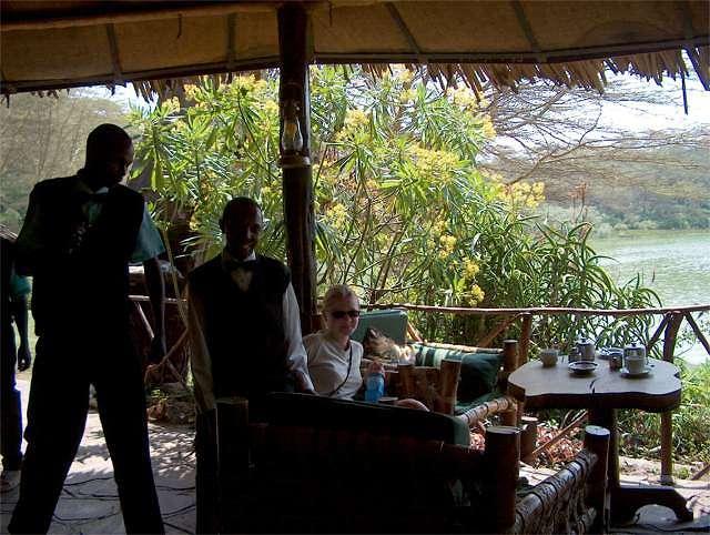 Zdjęcia: posiadłość baronowej Delamere, Green Lake Crater, odpoczynek po pieszym safari, KENIA