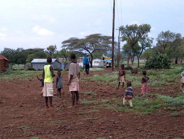Zdjęcia: Jezioro Baringo, afrykańska wioska, KENIA