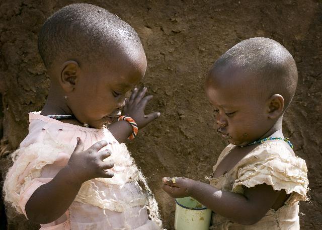 Zdjęcia: Amboseli, Posiłek, KENIA
