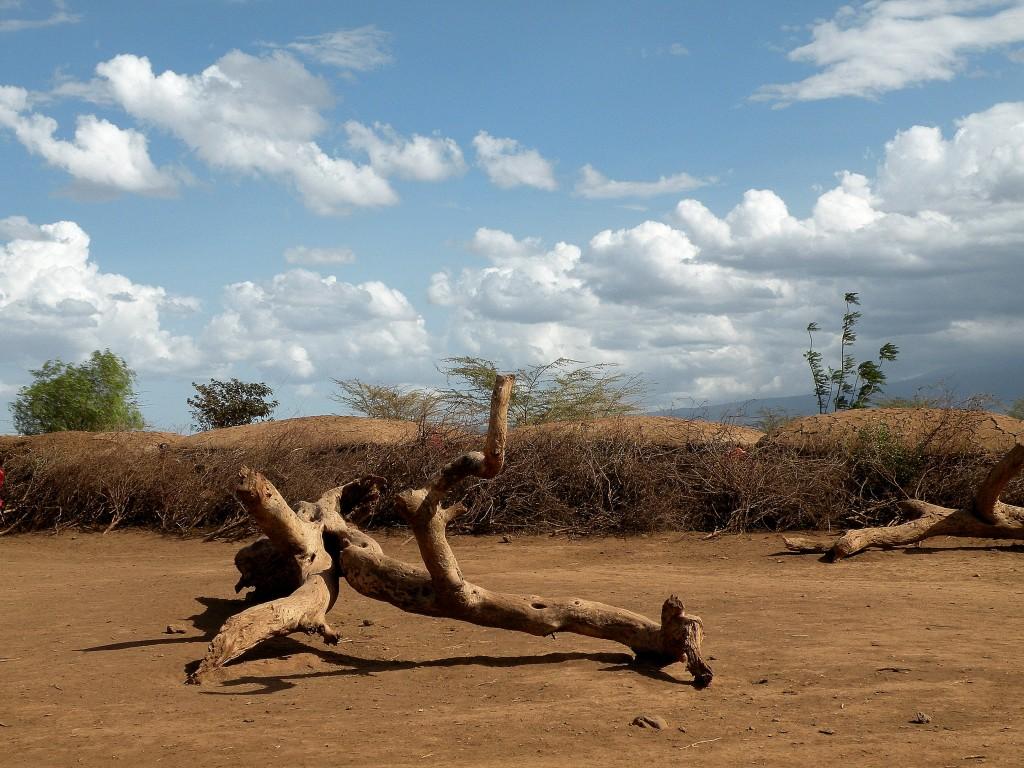Zdjęcia: Amboseli, płd Kenia, Wioska dobrze ukryta, KENIA