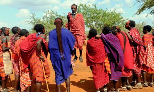 Zdjecie KENIA / Tsavo East / Masai village / te wyskoki powalaja