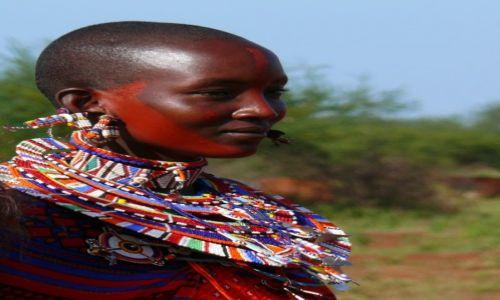 Zdjecie KENIA / Afryka Wschodnia / Amboseli / urodziwa Masajka