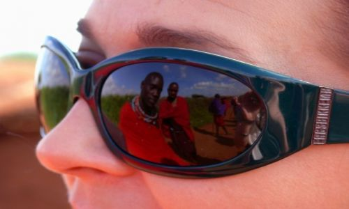 Zdjecie KENIA / Afryka Wschodnia / Amboseli / Masajowie w trochę innej perspektywie