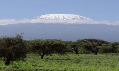 Zdjecie KENIA / - / Amboseli NP / widok na Kilimandżaro