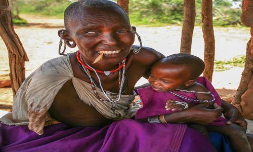 Zdjęcie KENIA / Kenia / Masai Village / Masai People