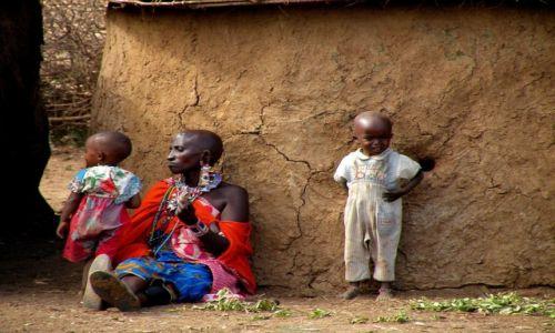 Zdjęcie KENIA / Amboseli / wioska masajska / We wiosce