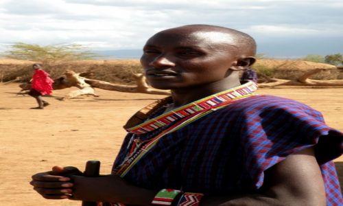 Zdjęcie KENIA / Amboseli / wioska masajska / Syn wodza