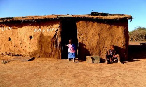 Zdjecie KENIA / Kenia Wschodnia / Wioska Masajów / Lepianka