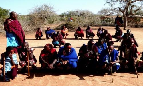 Zdjecie KENIA / Kenia Wschodnia / Wioska Masajów / Wódz Masajów