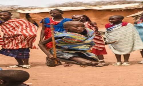 Zdjecie KENIA / Mombasa / Wioska Masajów / KENIA