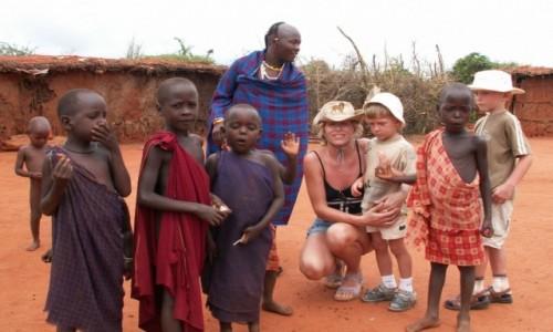 KENIA / Tsavo / brak / Wioska Masajów