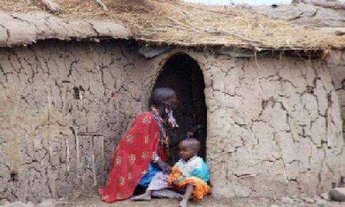 Zdjecie KENIA / Rezerwat Amboseli / wioska masajska / Dom