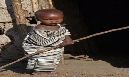 Zdjecie KENIA / Masai Mara / Wioska przy rezerwacie Masai Mara / Mały Masaj