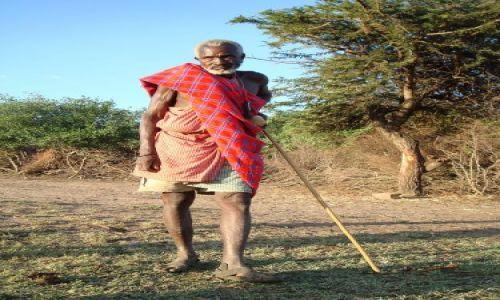 KENIA / brak / Masai Village / Wódz wioski