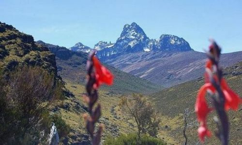 Zdjęcie KENIA / Mount Kenya / Mackinder Valley - View of Mount Kenya / Hiking Mount Kenya - Point Lenana
