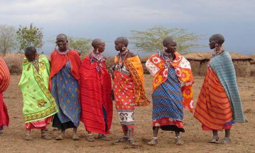 Zdjecie KENIA / masai  / masai village / panny