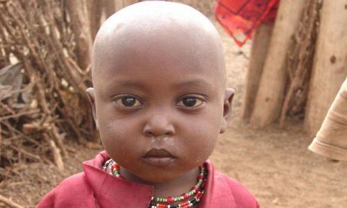 Zdjecie KENIA / masai  / masai village / dziecko