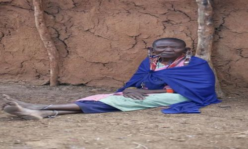 Zdjecie KENIA / brak / Masai Mara / w Masajskiej wiosce