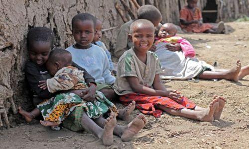 Zdjecie KENIA / Masai Mara / Masai Mara / dzieciaki