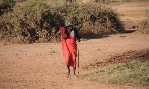 Zdjecie KENIA / Park Narodowy Amboseli / wioska masajska / masajski nestor