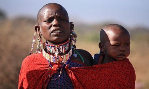 Zdjęcie KENIA / Park Narodowy Amboseli / Wioska masajska / z życia Masajów