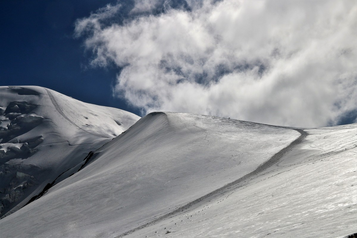 Zdjęcia: W drodze do obozu III ( ok.5600 m), Pamir, Pik Lenina, Pik Lenina , KIRGIZJA