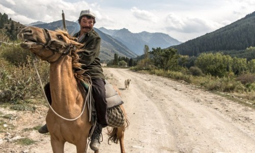 Zdjecie KIRGIZJA / Kirgistan / Kirgistan / Jeżdziec