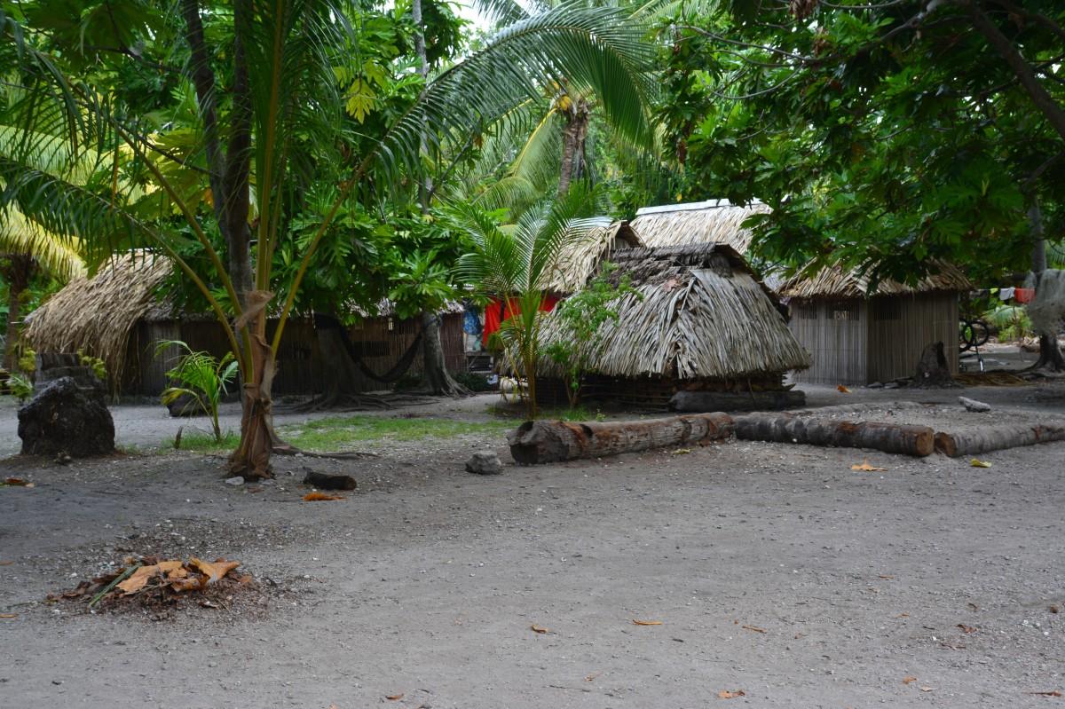 Zdjęcia: Abatao, Tarawa Północna, Można też tak mieszkać, KIRIBATI