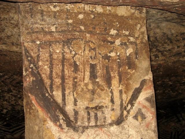 Zdjęcia: Tierradentro, Tierradentro, Ww wnętrzu komory grobowej - Tierradentro, KOLUMBIA