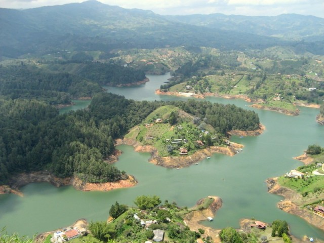 Zdjęcia: Guatapé, Antioquia, Widok z El Penol - 1, KOLUMBIA