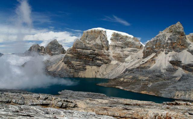 Zdjęcia: Cerros de la plaza, sierra nevada del cocuy, Laguna de la Plaza z góry, KOLUMBIA