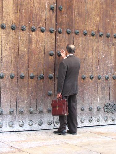 Zdj�cia: Bogota, Cundinamarca, Modlitwa przed Katedr�..., KOLUMBIA