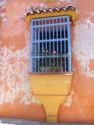 Zdj�cia: Cartagena, Bolivar, s�oneczne okno, KOLUMBIA