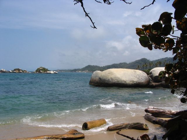 Zdjęcia: Narodowy Park Tayrona, Magdalena, Plaża...dzika plaża, KOLUMBIA