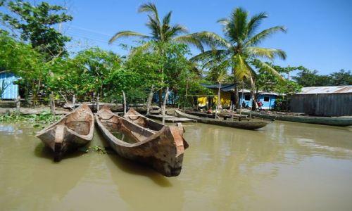 Zdjecie KOLUMBIA / Antioquia / Bocas del Rio Atrato / Łodzie