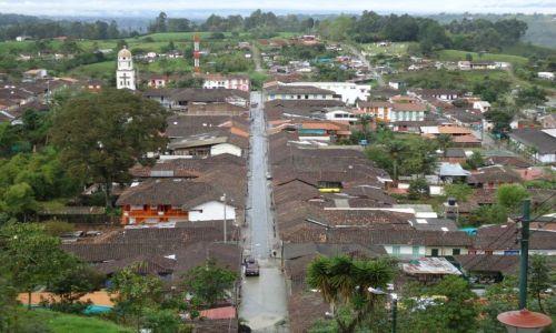 Zdjęcie KOLUMBIA / Quindio / Salento / Panorama Salento
