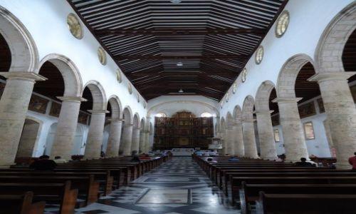 Zdjęcie KOLUMBIA / Bolivar / Cartagena / Wnętrze katedry