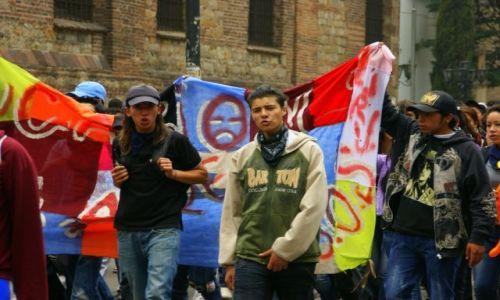 Zdjecie KOLUMBIA / Strajk studentów Bogota / Strajk studentów Bogota / Strajk studentów Bogota